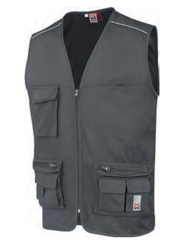 GILET MULTIPOCHES CLASSIC GRIS