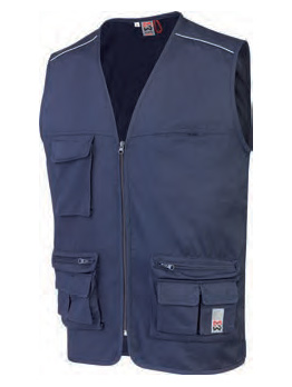 GILET MULTIPOCHES CLASSIC MARINE