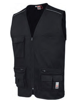 GILET MULTIPOCHES CLASSIC NOIR S