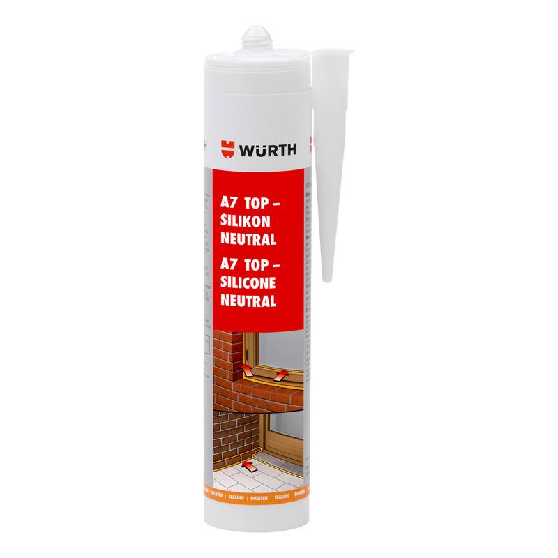 Mastic silicone neutre A7 TOP pour menuiseries