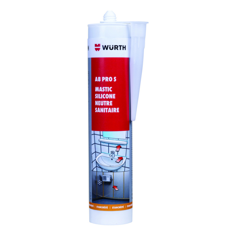 Mastic silicone neutre sanitaire et chambre froide