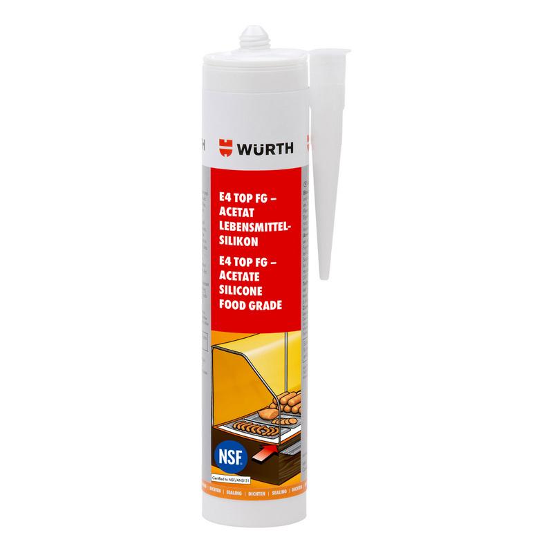 Mastic silicone acétate alimentaire E4 TOP FG