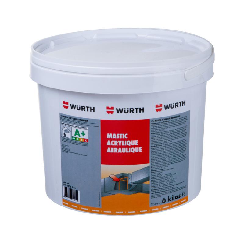 Mastic acrylique aéraulique