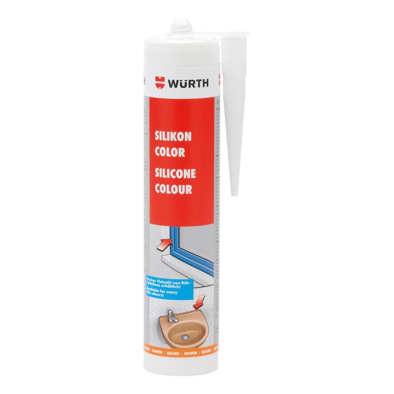 Mastic silicone neutre de couleur RAL
