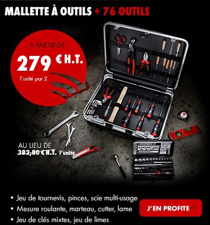 MALlETTE à OUTILS + 76 OUTILS