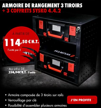 ARMOIRE DE RANGEMENT 3 tiroirs + 3 COFFRETs sysko 4.4.2