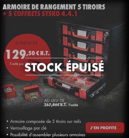 ARMOIRE DE RANGEMENT 5 tiroirs + 5 COFFRETs sysko 4.4.1