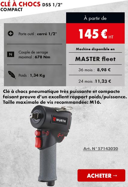 CLÉ À CHOCS PNEUMATIQUE DSS 1/2 COMPACT