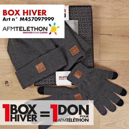 box hiver Téléthon