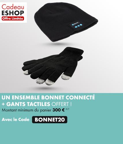 Cadeau eshop Bonnet connecté + gants