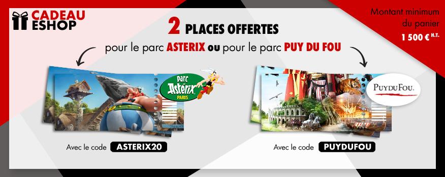 Cadeau eshop Parc Asterix ou Puy du fou