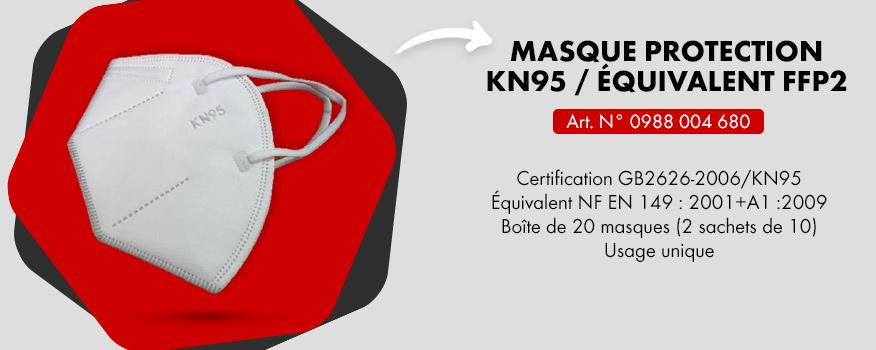 vente exceptionnelle de masque KN95 équivalent FFP2