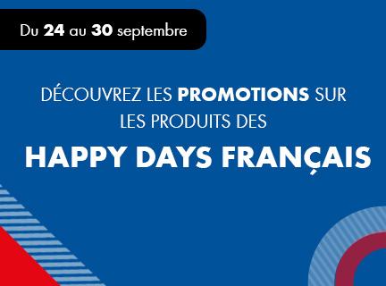 Promotions Happy Days Français