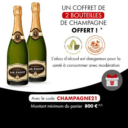 2 bouteilles de champagne