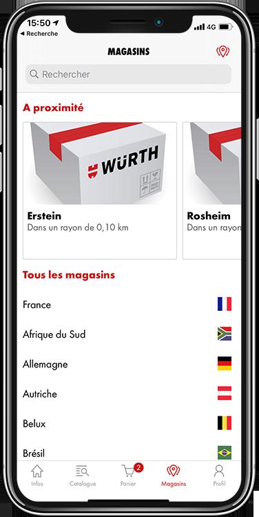 app wurth magasins