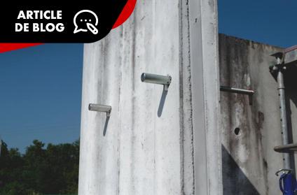 Le point d'appui démontable lors de constructions pour murs en béton armé : OS'APP®