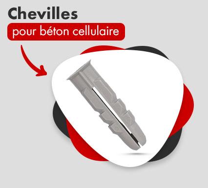 Chevilles pour béton cellulaire