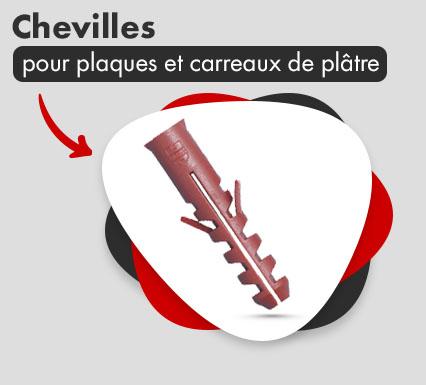 Chevilles pour plaques de plâtre