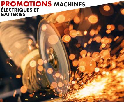 promotions machines electriques et batteries