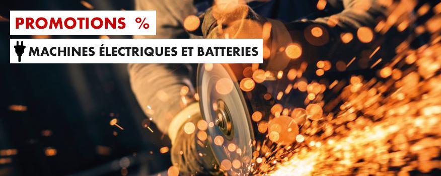 promotions machines electriques et à batteries