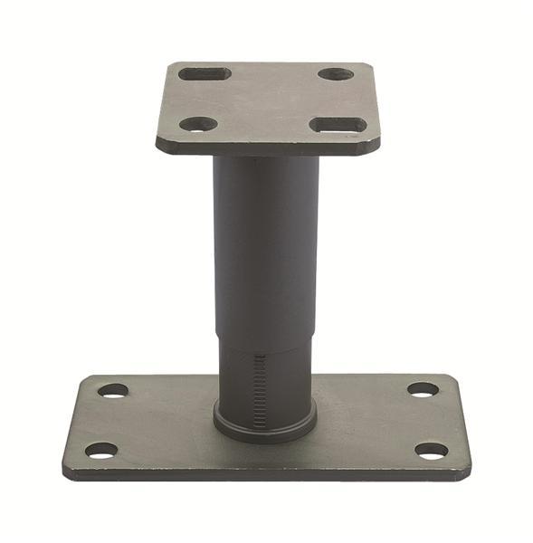 Pied de poteau r glable 135 200 - Support metallique pour poteau bois ...
