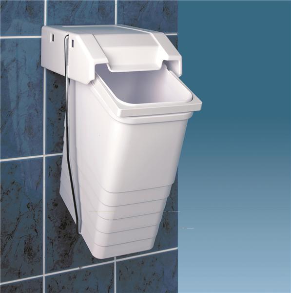 Poubelle basculante de salle de bain - Poubelle salle de bain noire ...