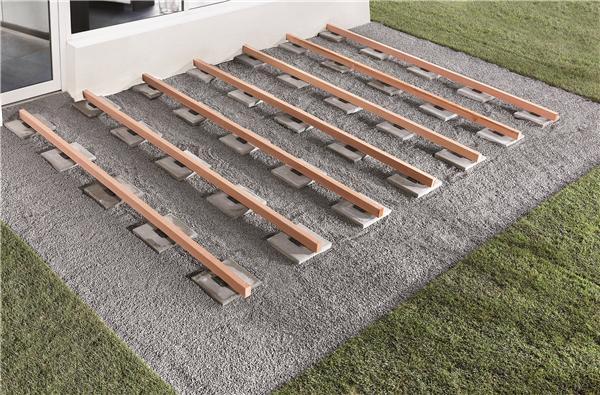 cale d appui en caoutchouc pour lambourde de terrasse. Black Bedroom Furniture Sets. Home Design Ideas